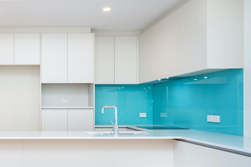 Kitchen Splashback Blue Gold Coast