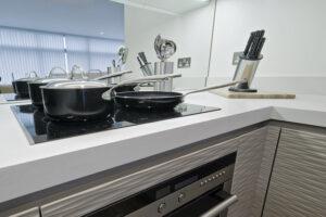 tinted mirror splashback for kitchen